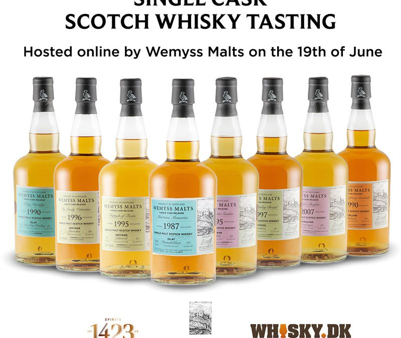 Eksklusiv Online Wemyss Single Cask Whisky smagning d. 19 Juni