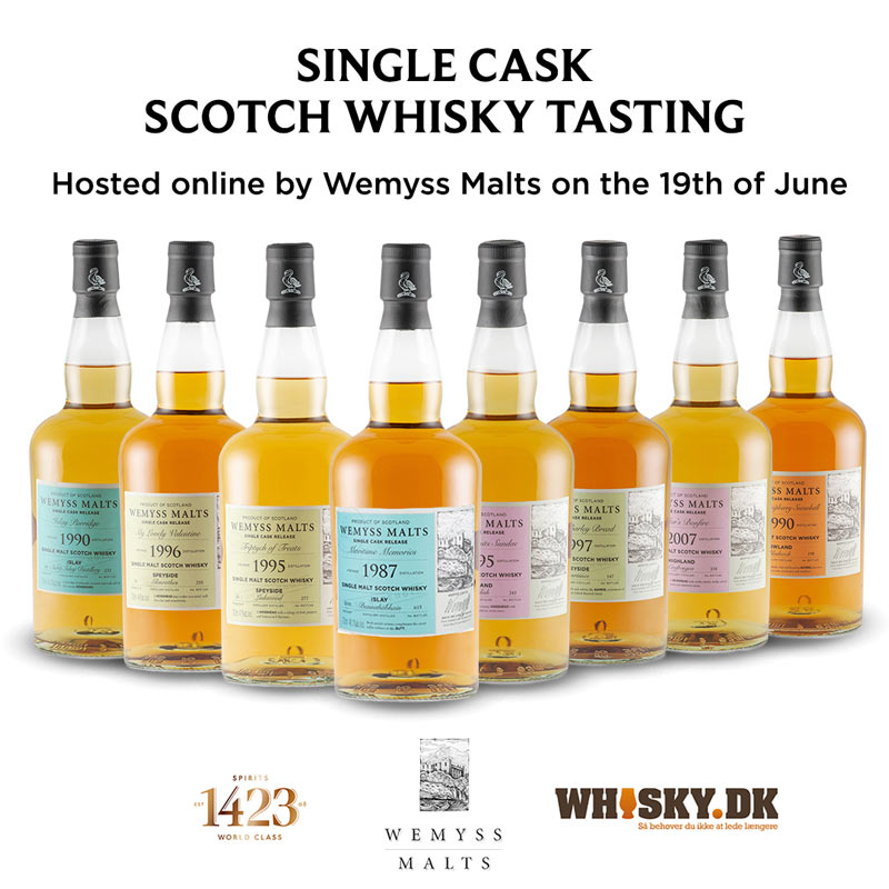 Eksklusiv Online Wemyss Single Cask Whisky smagning d. 19 Juni